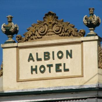 Albion Hotel 1872 sign Braidwood Kate/Sydney