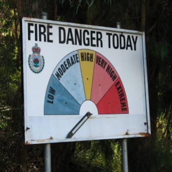 4388  Fire Danger off the chart! Hawkesbury River May'08 Kate/Sydney