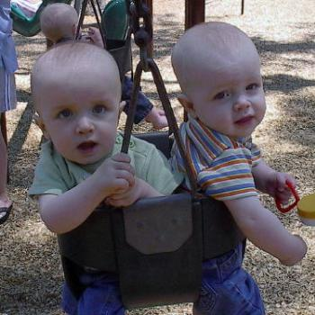 My boys in the swing together