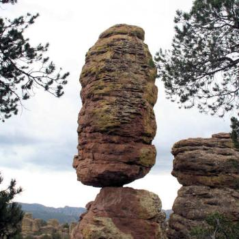 balanced rock, chiricahua mts, arizona
