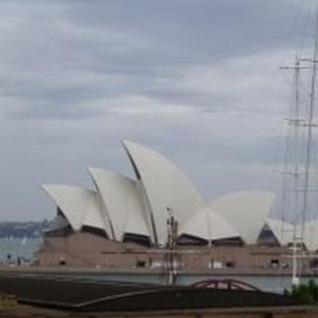 The Opera House from under the Bridge