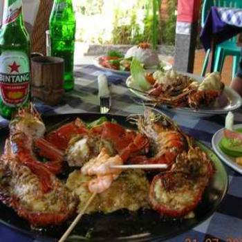 Seafood lunch, Cafe Bonsai, Sanur, Bali