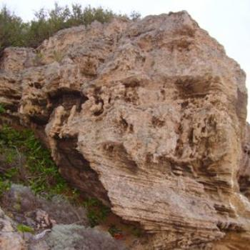 craggy rock face, Port Lonsdale/Joann