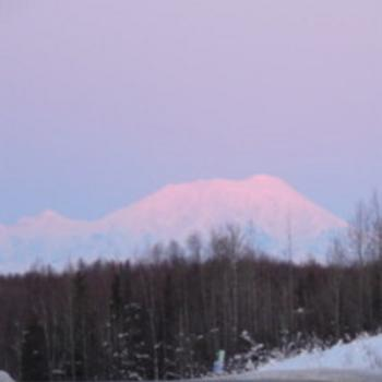 Denali at dawn off the Parks Highway