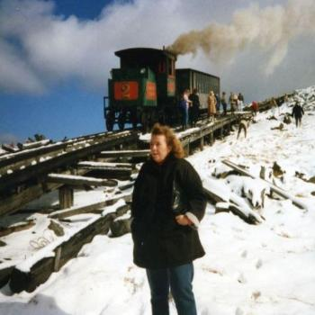The Cog Railway to the summit of Mt. Washington, NH