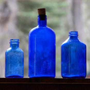 Bottles from Bodie (ghost town) in Judy's cabin