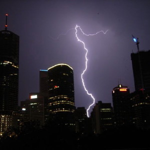 Electrical storm in Brisbane
