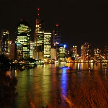 Brisbane skyline at night.