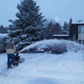 Snow clearing in Manotick January 2006