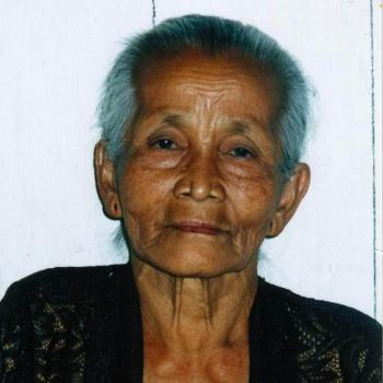 Elderly Javanese lady