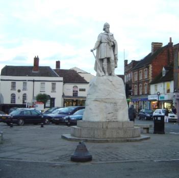 Statue of King Alfred, Wantage, UK