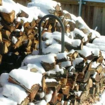 Snow on wood pile    Sue/OK