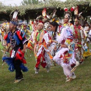 Intricate Footwork at the Ute/Ouray Pow-Wow in Utah, July 2008, by Wilodene