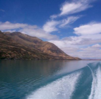 Lake Ohau in New Zealand South of Mount Cook.