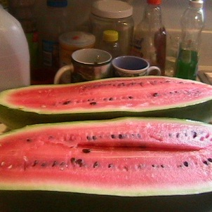 Watermelon from our garden
