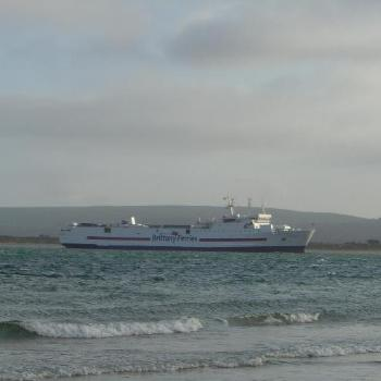 Barfleur entering Poole Harbour, UK