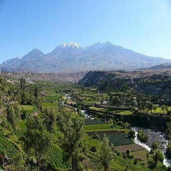 Fertile Valley of White City of Arequipa in Peru