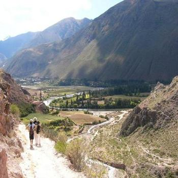Mountain trail near Urubamba River, Peru