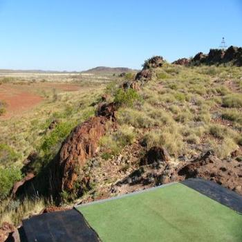 Tee off, Roebourne Golf Course, West Aust