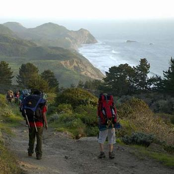 Continuing to backpack at age 15, Pt. Reyes National Seashore