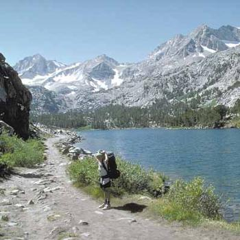 Backpacking at age 8 to Little Lakes Valley in the Sierra Nevada, CA