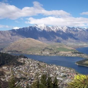 High above Queenstown NZ