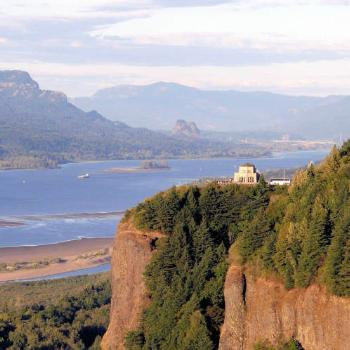 Vista House and Columbia River Gorge