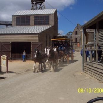Coach ride, Sovereign Hill, Ballarat, Victoria