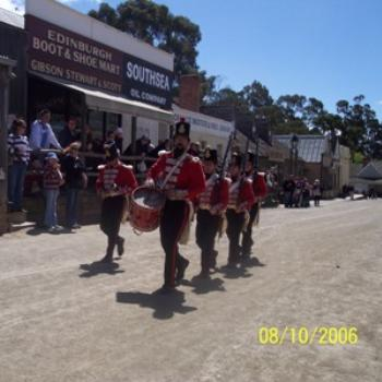 Red Coats on parade, Sovereign Hill, Ballarat, Victoria