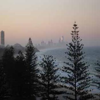 View of Surfers from Burleigh Heads (Qld)