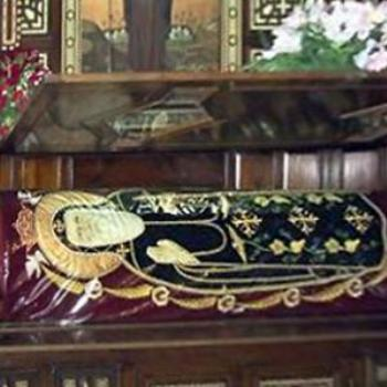 Saint Bishoy Coffin in his Monastry (60) Miles North Cairo City)