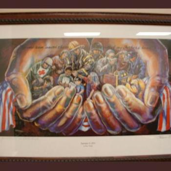 9-11 painting by Shawn Bridges: original is in the Pentagon. http://www.shawnbridges.com/
