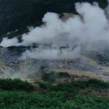 Steam fissures, Dieng Plateau, Indonesia