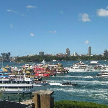 Great Ferry Boat Race on Sydney Harbour - Australia Day 2008
