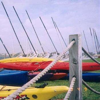 Kayaks at Wrightsville Beach NC / kr NC
