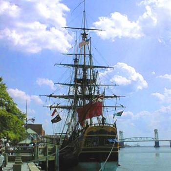 HMS Endeavour replica at the Port of Wilmington NC / kr NC
