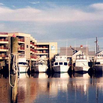 Charter fishing boats docked in Carolina Beach NC  \ kay NC