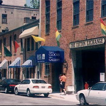 Historic Downtown Wilmington, NC . The old cotton exchange is now a variety of small shops, many selling handmade wares of the area / kr NC