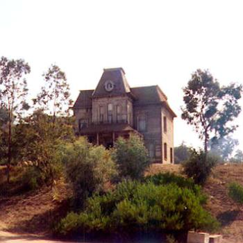 """Psycho"" house, Universal Studios back lot, Hollywood CA. This is the house built for the Alfred Hitchcock movie of 1960. / kr NC"