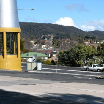 DZJ08 Miner's Lamp Lithgow (it's the yellow & glass thing and it's attached to the Information Centre Kate/Sydney