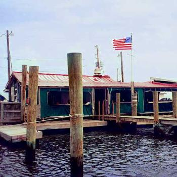 The Provision Company, Southport NC. This was an old ship's chandler, now the best place around to dock your boat and eat steamed seafood. / kr NC