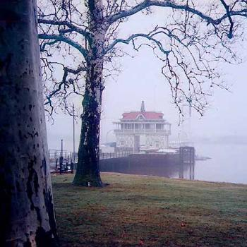 Riverton Yacht Club on a misty morning at Riverton, New Jersy / kay NC