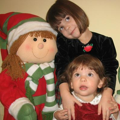 Sasha & Talia & Christmas Elf!