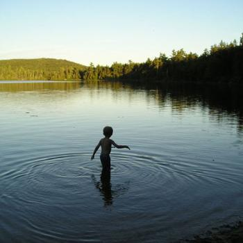 Johnston Pond, Maine, USA (my nephew)