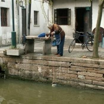 Doing Laundry in a Watertown in China