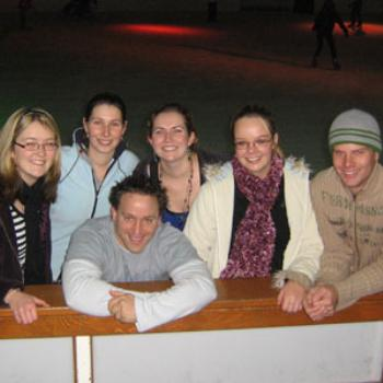 Friends Ice Skating in Penrith, Sydney