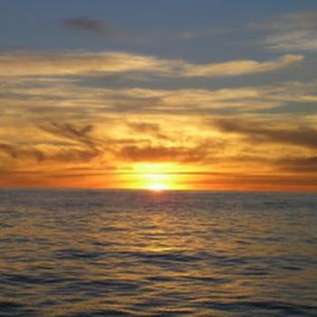 Sailing sunset off Baja California