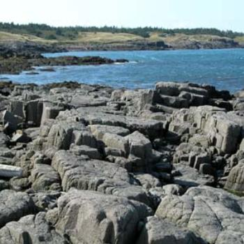 Coastal rocks, Headland at Digby Neck, NS, Canada