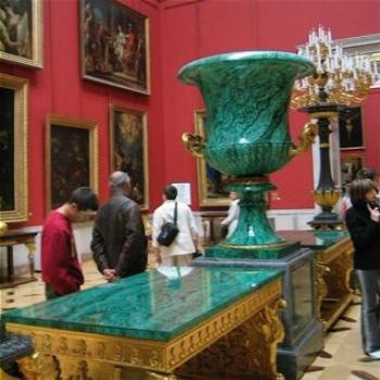 Malachite Urn in the Hermitage