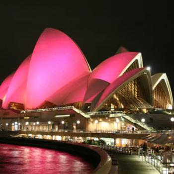 breast cancer awareness week- pink opera house